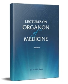 lectures on organon of medicine book vol 1